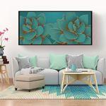 Luxury Green Flower Canvas