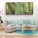 Trendy Green Decor Canvas Set