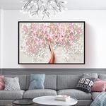 Modern Soft Çiçek Kanvas Tablo