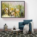 Oil Art Flower Model II Canvas