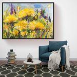 Oil Art  Yellow Flower Canvas