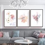 Soft Floral Canvas Set