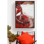 Red Woman Canvas
